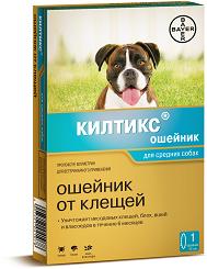 Bayer Килтикс ошейник от блох и клещей для средних собак (53см)