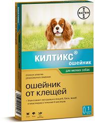 Bayer Килтикс ошейник от блох и клещей для маленьких собак и щенков (38см)