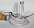 Hunter Ошейник для маленьких пород собак розовый/белый Modern Art Luxus, стразы Swarovski размер 27/11(20х23,5см)