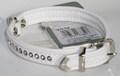 Hunter Ошейник цвет белый Modern Luxus, стразы, кожзам, размер ошейника 24 (17х21см)