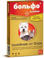 Bayer Больфо ошейник от блох для мелких пород собак и кошек (35 см)
