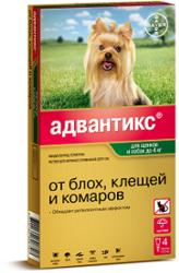 Bayer Адвантикс 40С капли от блох и клещей для собак до 4 кг