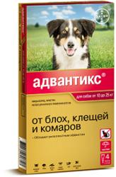 Bayer Адвантикс 250С капли от блох и клещей для собак от 10 до 25 кг