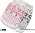 I's Pet Свитер для собак розовый с орнаментом, размер М, XL