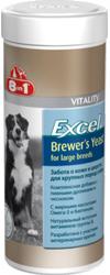 8 in 1 Excel Brewers Yeast Mega. Витамины для крупных собак с пивными дрожжами 80 таб.