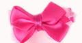 """ForMyDogs Зажим для собак """"Бантик"""" ярко-розовый шелк 3,0см"""