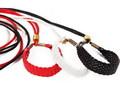 Ринговка для выставки, цвет черный с плетеным расширителем. Длина 1,2м, толщина 3мм