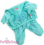 ForMyDogs Дождевик голубой, модель для мальчиков, размер 10