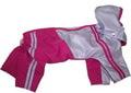 LifeDog Дождевик малиновый с полоской, размер L. Длина спины 31см