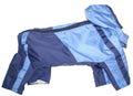LifeDog Дождевик синий/голубой, размер L. Длина спины 31см