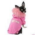 Pinkaholic Двухсторонняя куртка с капюшоном, цвет розовый, размер М