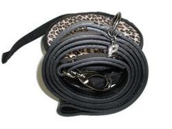 Puppia Поводок из натуральной кожи, цвет черный, размер 2смх120см