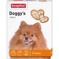 Beaphar Витамины DOGGY`S BIOTIN для собак с биотином (75 табл.)