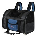 TRIXIE Сумка-рюкзак для собак и кошек до 8кг, нейлон, цвет черный/синий, размер 44х30х21см