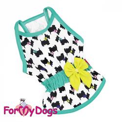 ForMyDogs Майка для собак трикотажная белая, размер 16