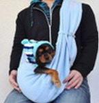 "Al1 Слинг-переноска для животных ""Почтальон"", голубой трикотаж"