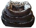 FAUNA INT Лежак INT LEO мягкий, цвет коричневый Leopard 70х60см