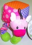 Chomper Игрушка Свинка-кубик для щенков мягкая с пищалкой(нейлон, флис)