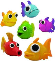 Beeztees Игрушка для собак Рыбка, латекс, в ассортименте, размер 14х6см