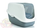 Beeztees Nestor Туалет-домик для кошек серый 56х39х40см