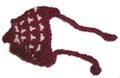 Шапочка бордовая вязанная, размер S