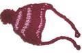 Шапочка бордовая вязанная, размер M