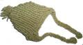 Шапочка фисташковая вязанная, размер М