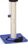 Beeztees Когтеточка-столбик Полуночный Кот, синяя 34*34*62см