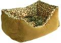 Зооэкспресс Лежанка пухлик, меб.ткань и мех, цвет в ассортименте