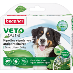 Beaphar БиоКапли для собак крупных пород > 30кг от блох и клещей 6 пипеток