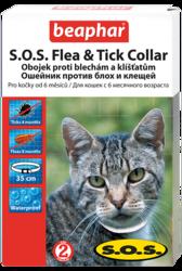 Beaphar Ошейник SOS для кошек от блох и клещей 35см