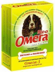 Омега Neo Лакомство для собак Морские водоросли 90табх5шт