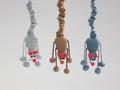 Beeztees Игрушка для кошек Дразнилка-мышь подвесная 52см