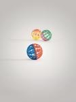 Beeztees Игрушка для кошек Мяч-погремушка с колокольчиком сетчатый, пластиковый 4см 6шт
