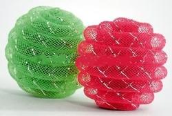 Beeztees Игрушка для кошек Мячик декорированный сеткой 5см 2шт