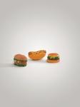 "Beeztees Игрушка для собак ""Сэндвич/гамбургер/хотдог"", винил 8-11см"