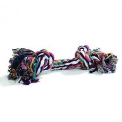 """I.P.T.S. Игрушка для собак """"Канат с 2-мя узлами"""" разноцветный"""