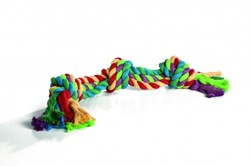 """Beeztees Игрушка для собак """"Канат с 4-мя узлами"""" разноцветный 360г*60см"""