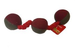 Osso Fashion Игрушка для собак из флиса «Шарики» на резинке с пищалками 38,0 см