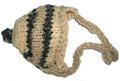 Шапочка крем/меланж вязанная, размер М