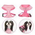 Puppia Шлейка-жилетка для собак розовая шанель, размер L