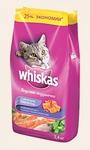 ВИСКАС Для кошек подушечки/паштет Лосось, сух.5кг