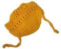 Панамка для собак желтая, размер L