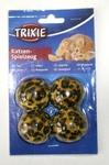 """TRIXIE Игрушка для кошек """"Мячики леопардовые"""" 3.5м, 4шт. в уп."""