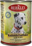 Berkley(Беркли) Консервы для щенков Кролик с овсянкой 400г х 6шт