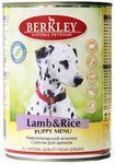 Berkley(Беркли) Консервы для щенков Ягненок с рисом 400г х 6шт