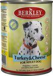 Berkley(Беркли) Консервы для собак Индейка с сыром 400г