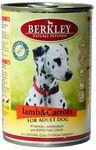 Berkley(Беркли) Консервы для собак Ягненок с морковью 400г