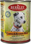 Berkley(Беркли) Консервы для собак Дичь с коричневым рисом 400г х 6шт