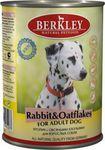 Berkley(Беркли) Консервы для собак Кролик с овсянкой 400г х 6шт.